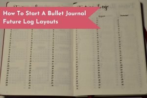 Create your first Future Log Layout with this Minimalist spread.