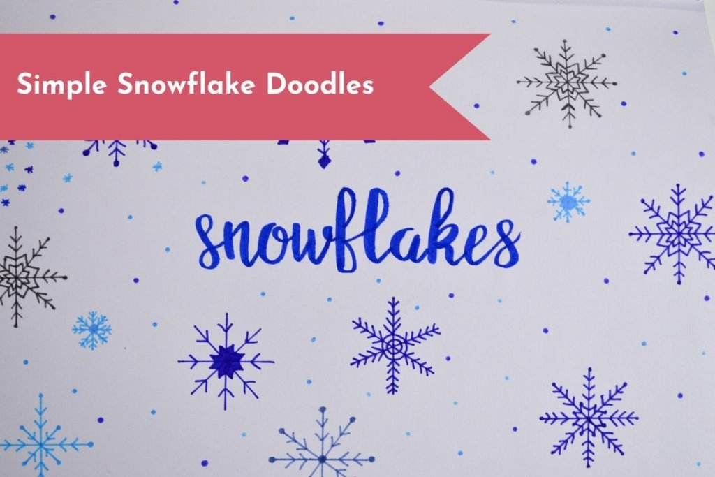 Add some decoration to your layouts this winter with these cute and simple snowflake doodles!