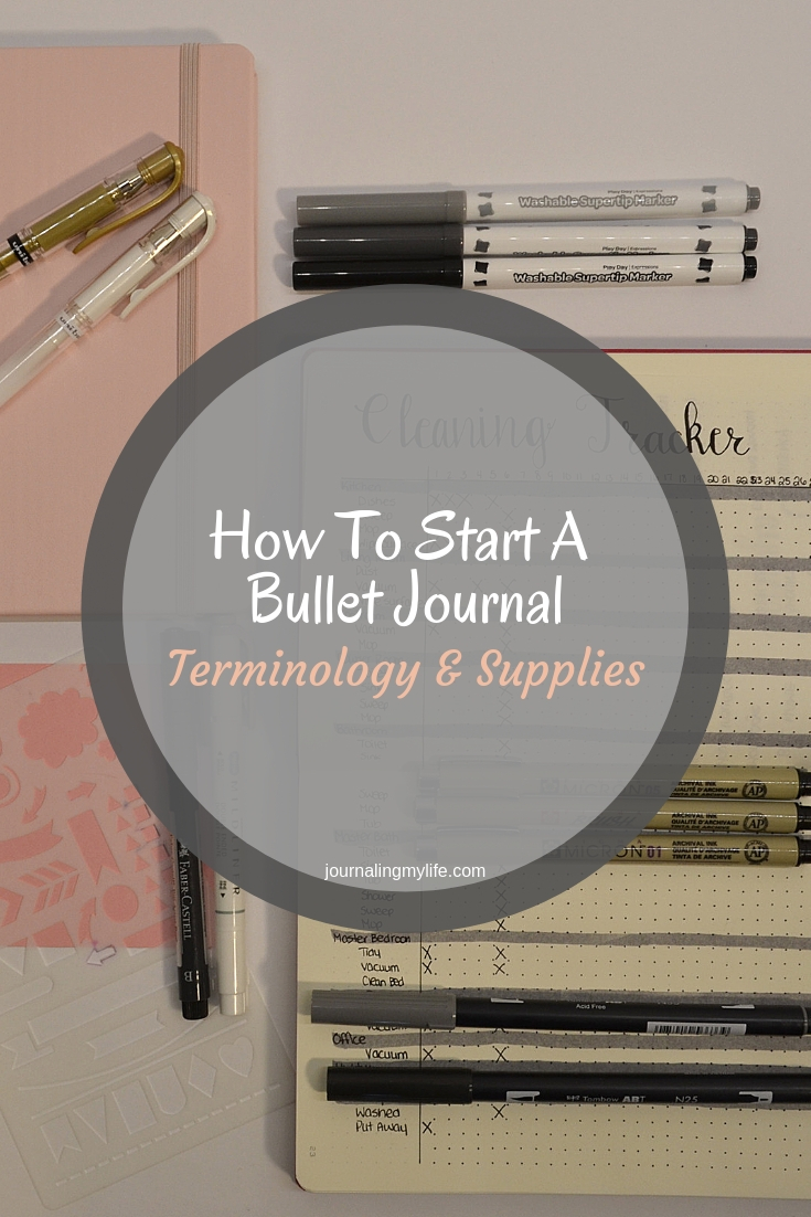 Learn How To Start a Bullet Journaling starting with the basics. In this blog post, I discuss the basic terminology, and the supplies I recommend for minimalist layouts.