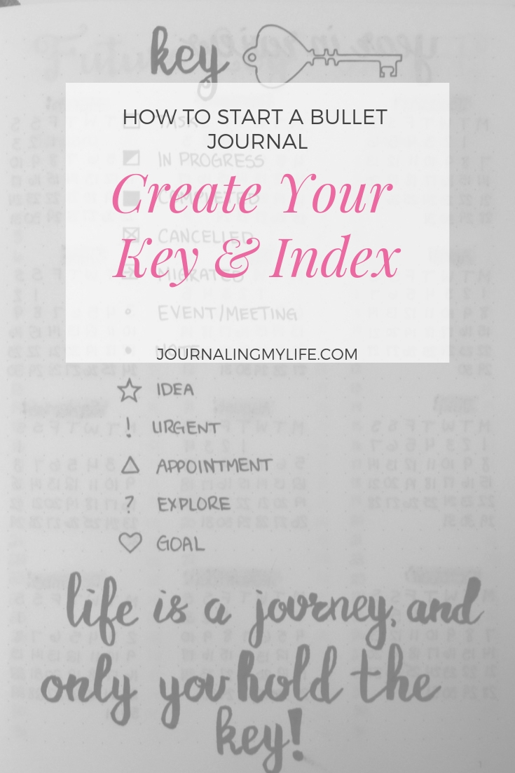 Utilize a Key and Index in your Bullet Journal to keep it organized and easy to use!