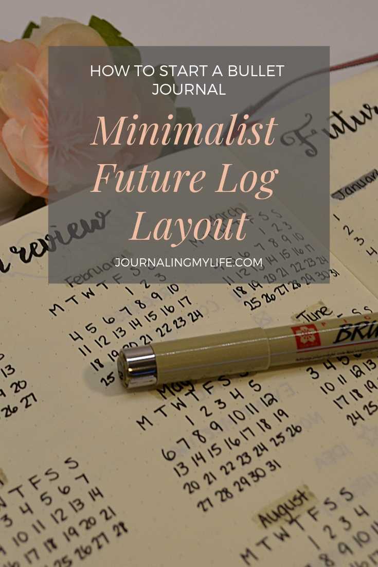 Create a minimalist layout Future Log in this series post, How To Start A Bullet Journal. This layout makes future planning very easy to maintain throughout the year!
