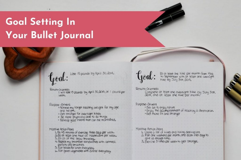 Setting goals has never been easier! Your Bullet Journal can help you plan, get organized, track your results, and be your accountability buddy.