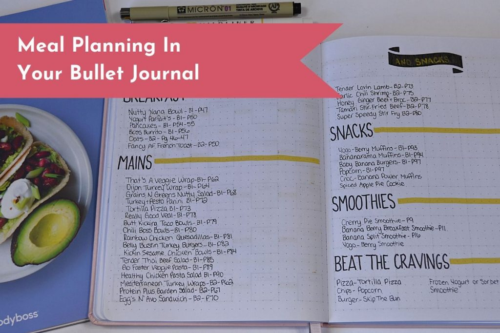 Get your families meals organized with your Bullet Journal! Simple layouts will help keep you on track.