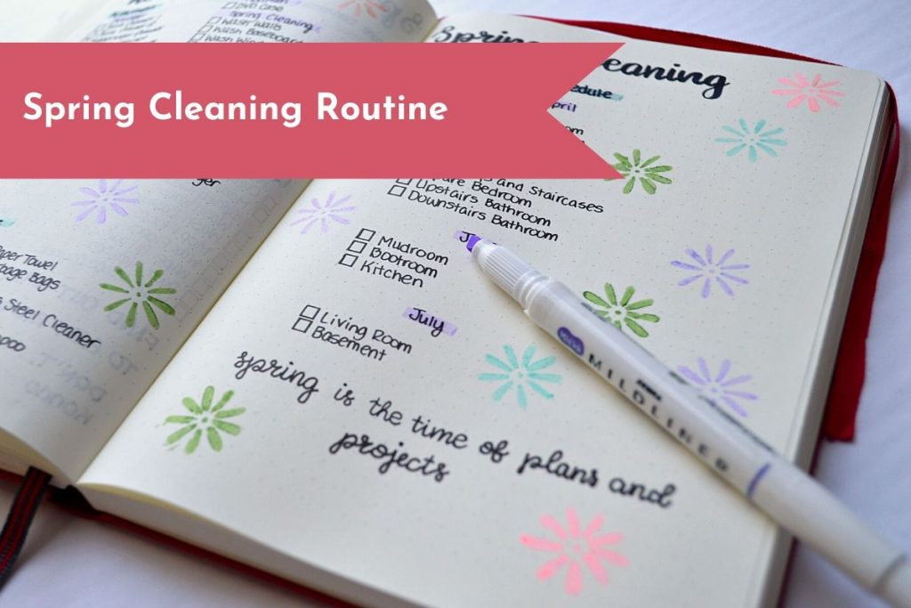 Create a plan of action to get all your Spring Cleaning done in less time!