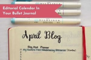 Get your editorial calendar organized in your Bullet Journal with simple layouts, brainstorming pages, and calendars!