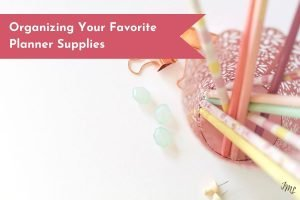 Bullet Journal and Planner supplies scattered everywhere? Get some supply organization inspiration.