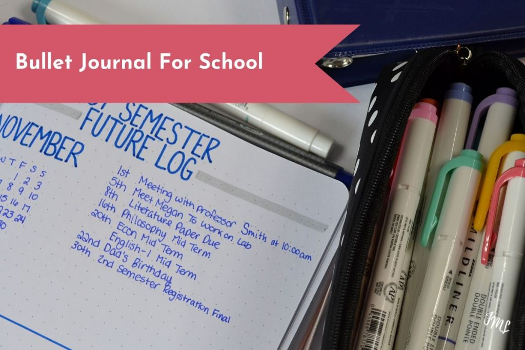 Organize all of your classes and assignments with a Bullet Journal for school. Minimalist layouts keep it easy to set up and maintain.