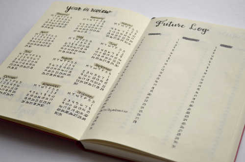 Keep track of your future events and appointments with a Future Log layout in your Bullet Journal