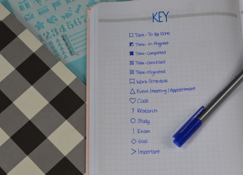 This key is perfect for any student who wants to use a Bullet Journal to get themselves organized.