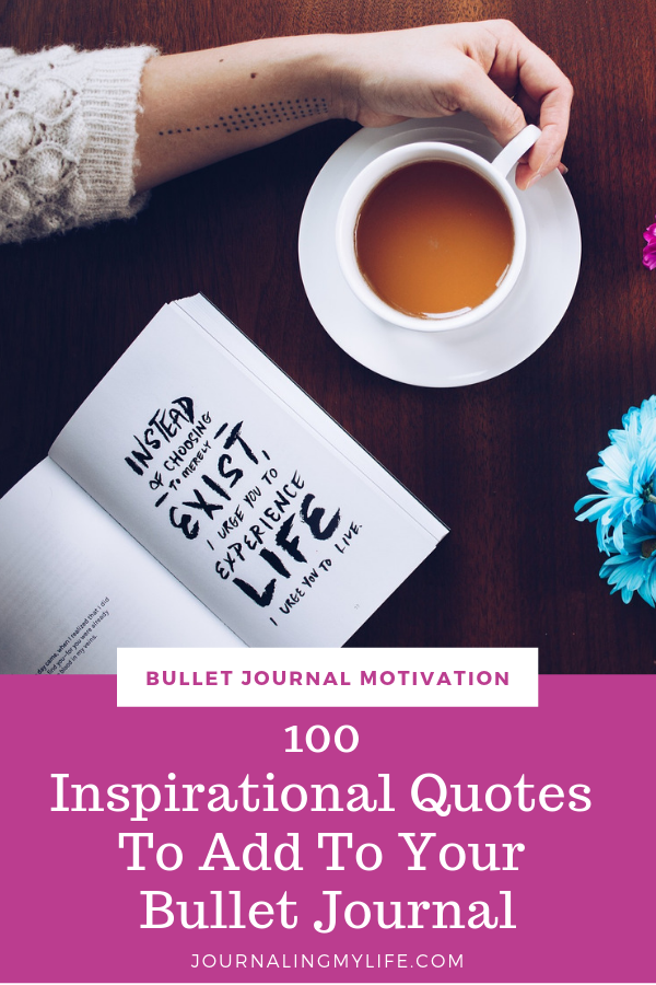 Stay motivated to crush your goals with these motivational quotes to add to your Bullet Journal!