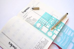 March 2019 Expense Log Bullet Journal Or DIY Planner Layout