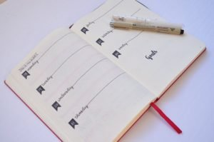 It is easy to decorate minimalist layouts for your Bullet Journal or DIY Planner with the use of simple stencils.