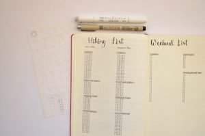 Plan your trip with these easy to setup Bullet Journal packing lists! Whether you are heading to the lake for the weekend or jetting off to Paris for a month, be prepared by starting a packing list for your trip!