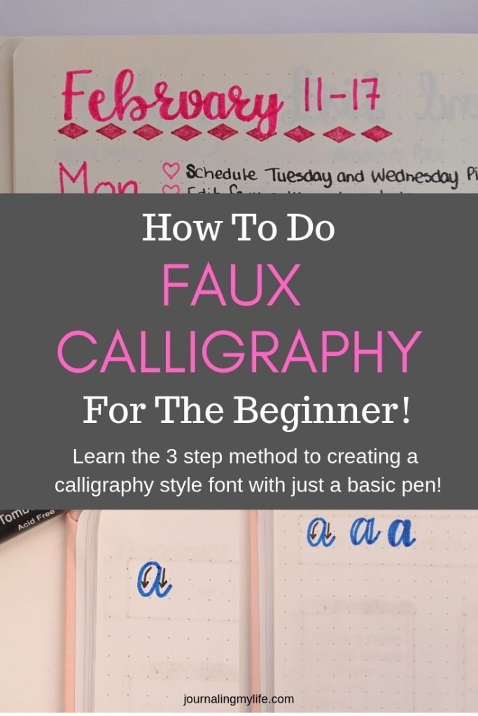 Learn a new lettering technique known as Faux Calligraphy. Discover the three easy steps to create faux calligraphy, and get the free Faux Calligraphy Guide which is a bundle of practice sheets with three different font options!