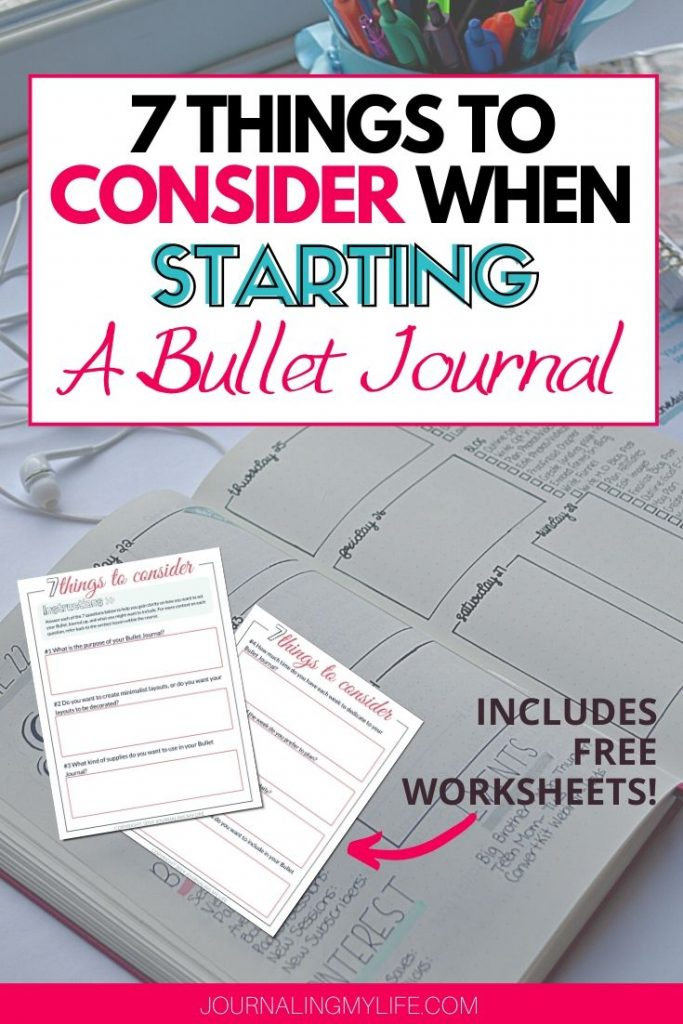 Get started with your Bullet Journal knowing what you want and need from the system!