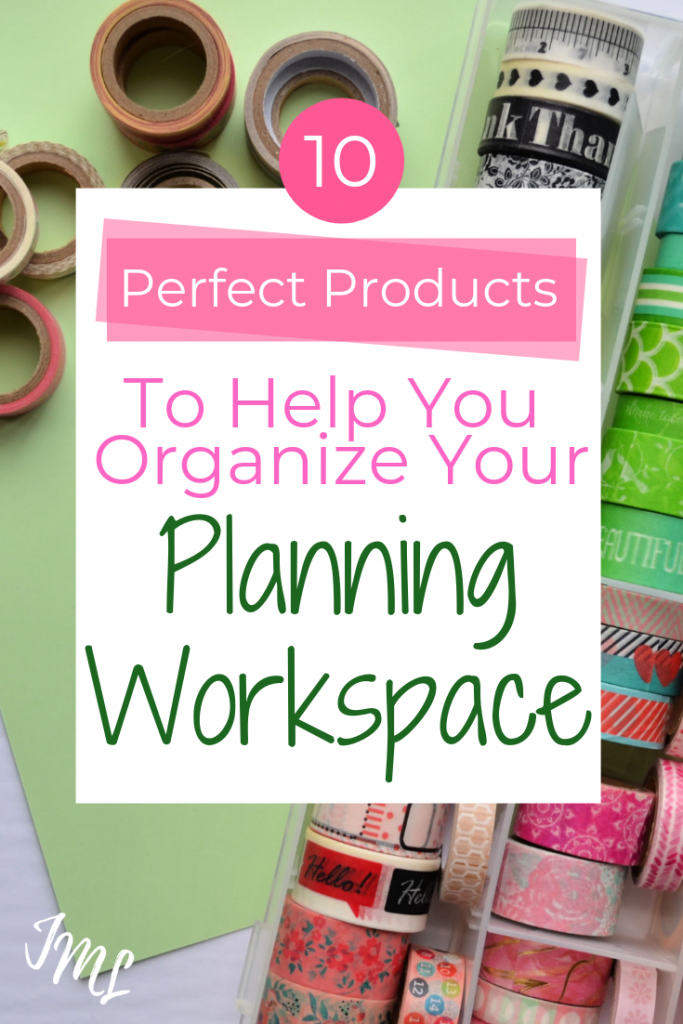 Organize your planning workspace, and all of your Bullet Journal supplies with these simple storage solutions from Amazon!