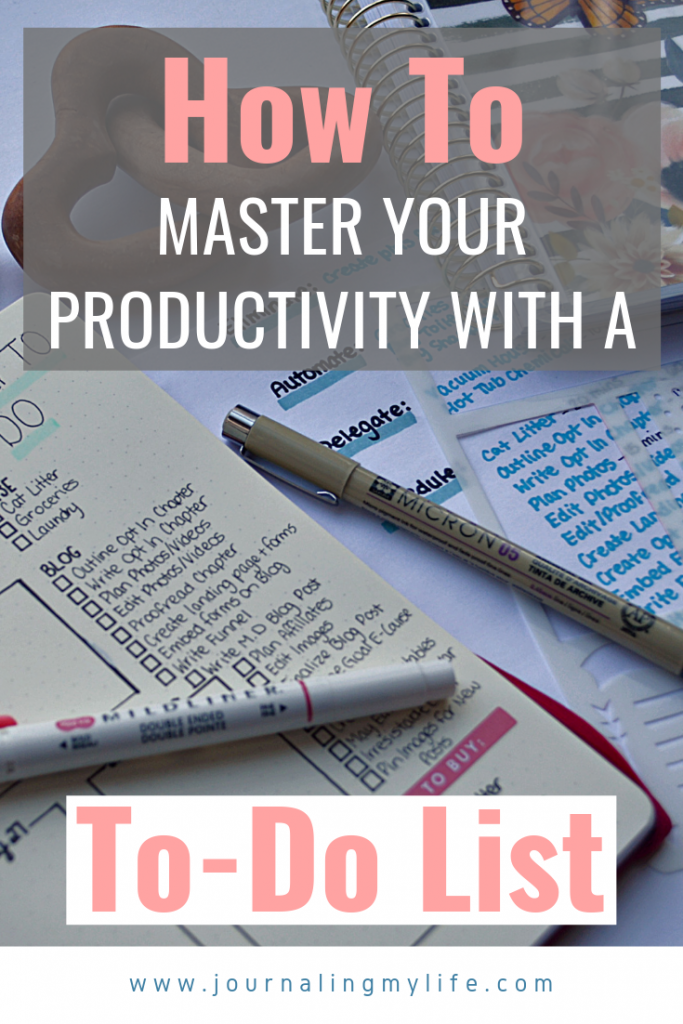 If mastering productivity is a goal for you, mastering your to-do lists can be the perfect place to start! To do lists can help you with organization, time management, and productivity, and it doesn't have to require a ton of time! Discover the steps I take to craft a to-do list that helps me accomplish more without feeling overwhelmed or burnt out in my Bullet Journal!