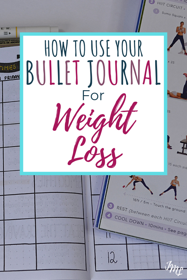Discover the 7 key elements to using your Bullet Journal for weight loss with different layouts and trackers.