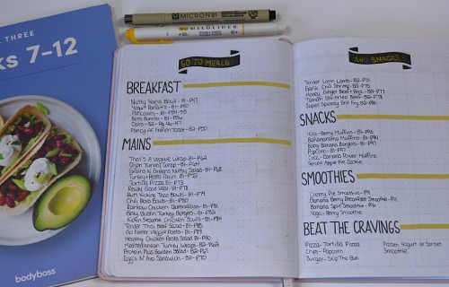 Meal Planning is an important part of any weight loss goal, so it only makes sense to add favorite meals and snacks for your diet!