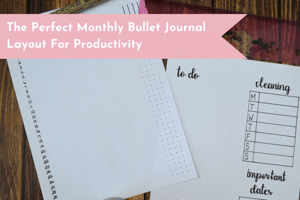 Discover the perfect monthly Bullet Journal layout that will help you get your life organized, set your goals, and be highly productive!