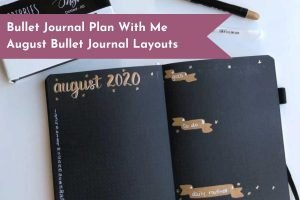 August Bullet Journal Plan With Me in Scribbles That Matter Notebook