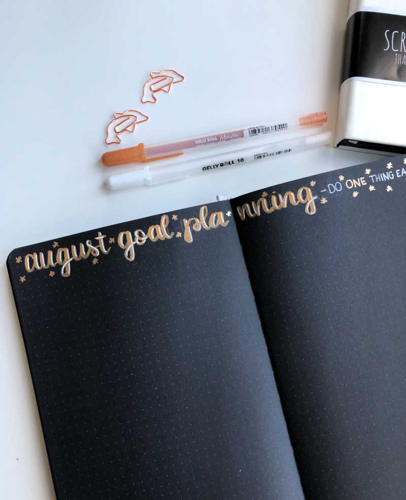 If you love planning your goals, you should always include a goal layout in your monthly layouts!