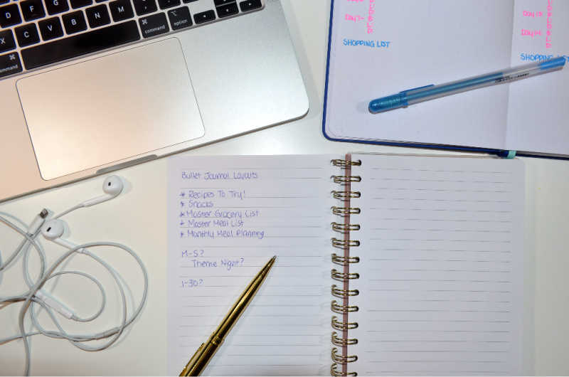Take some time to brainstorm what Bullet Journal layouts you want to use to meal plan each week!