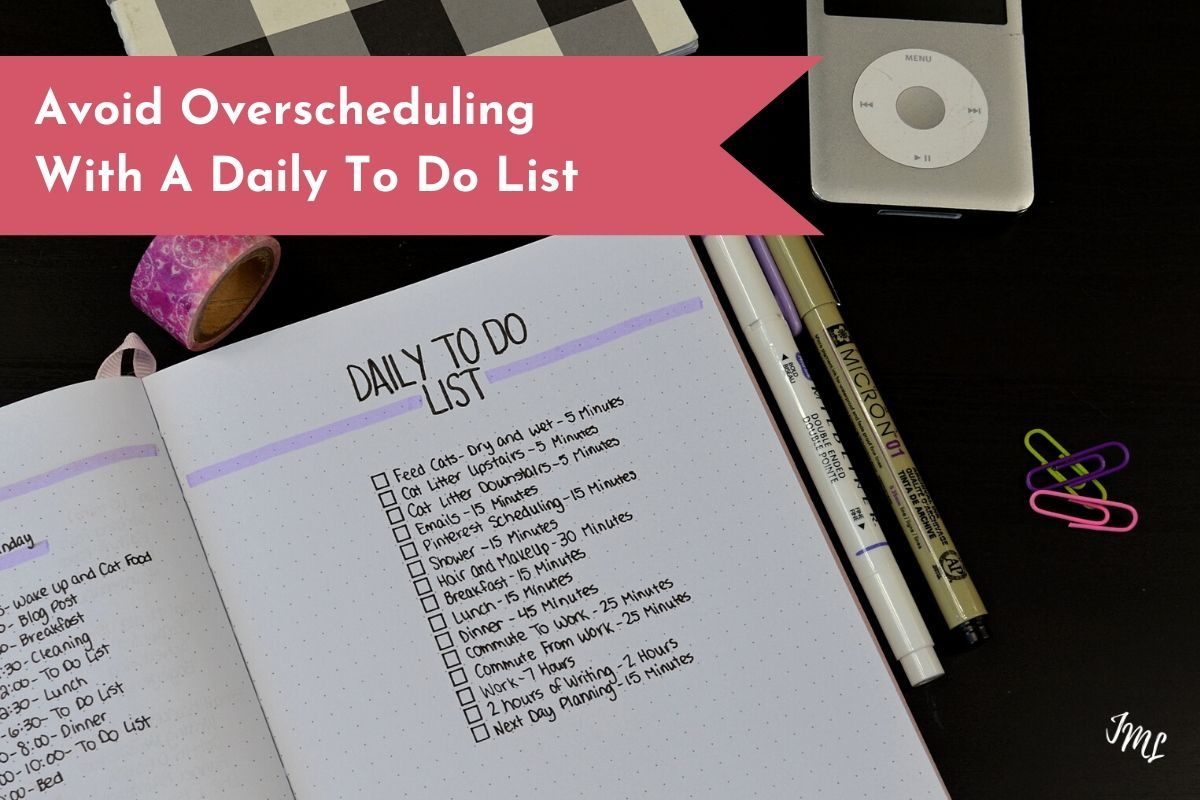 Take control of your day and your tasks with a daily to do list for your planner or your Bullet Journal.